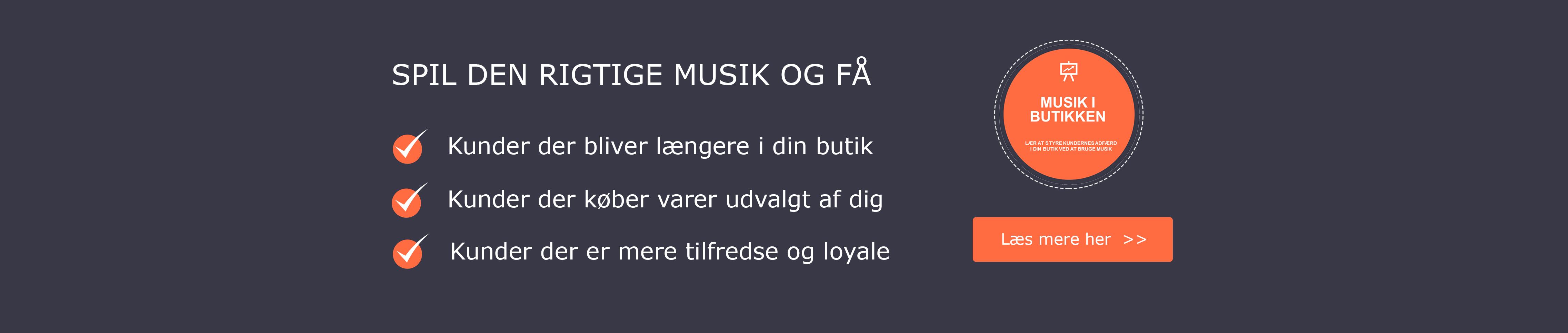 Musik i butikken øger omsætningen www.mindmovingmusic.dk